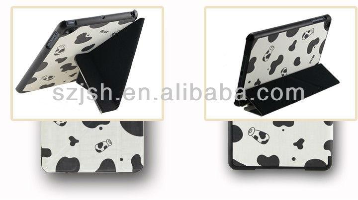 For ipad mini smart case, cheapest factory cute leather cases for ipad mini