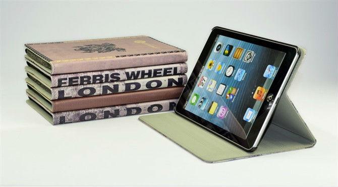 Hot! British style PU case for ipad mini, New British case for Ipad mini case