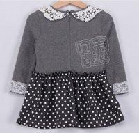 Ирис, вязание qz-0420, Детская одежда, детское платье девушки прекрасные кружева, длинный рукав платья для детей, Мода, футболки