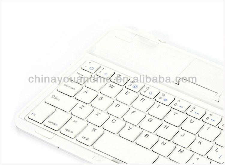 2013 New Design Ultra thin Aluminum Wireless Bluetooth Keyboard For iPad Mini