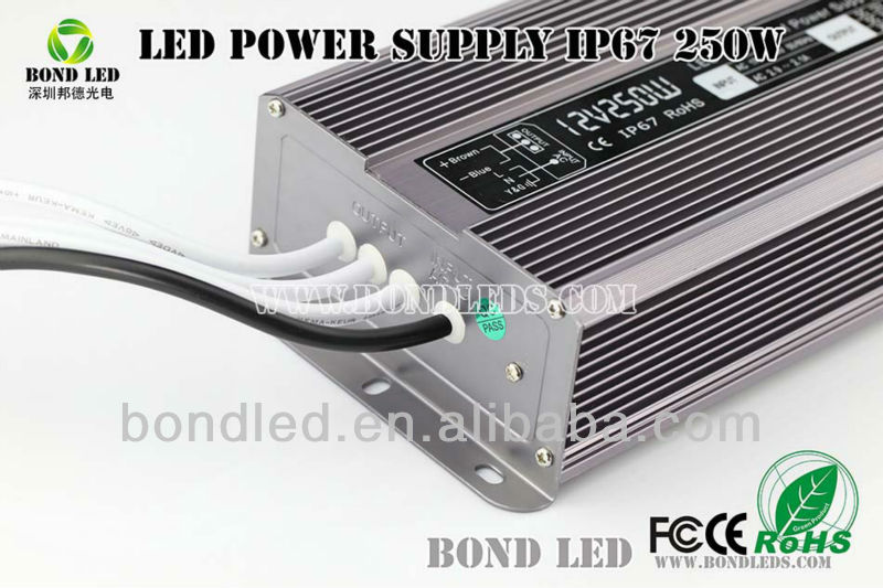 250W 12V led power supply waterproof