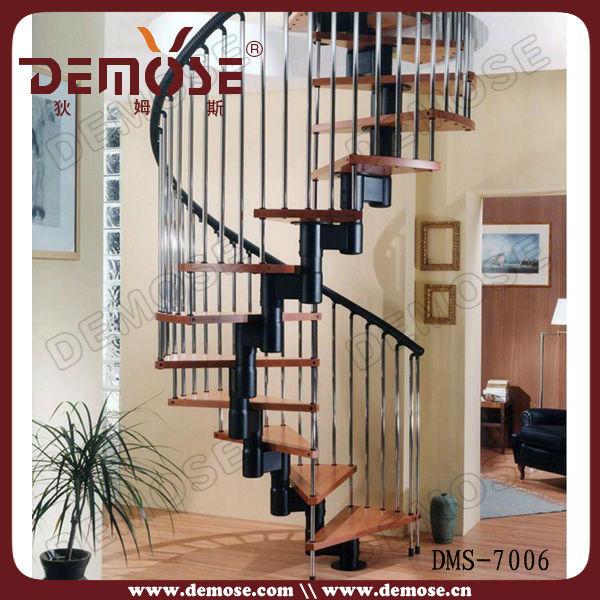 moderna escalera de caracol de hierro forjado de acero galvanizado