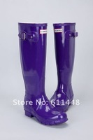 Женские ботинки whloesale original rubber tall rian boot with box lily 7color gloss UK3-UK8