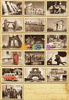 Бумага для писем Euramerican architectural landscape travel post card set / 32 sheets cards per set