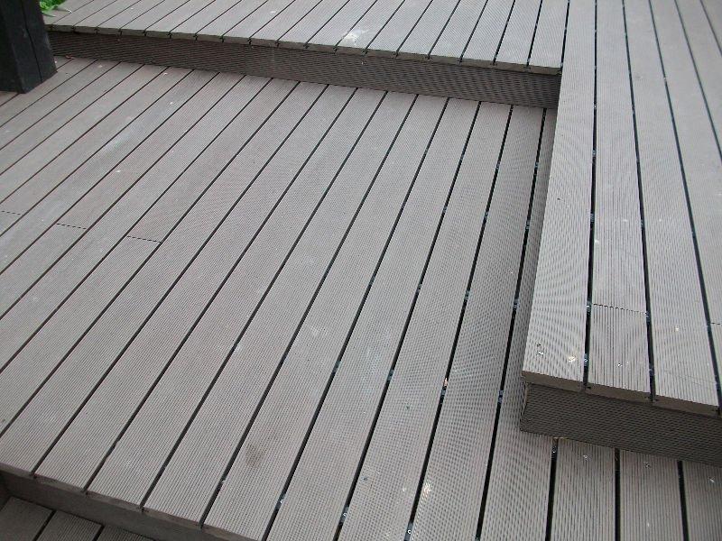 Plastic wood deck floor solid wpc deck flooring decking for Plastic wood decks