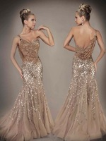 Платье на студенческий бал New Sexy Champagne One Shoulder Sweetheart Popular Beading Lace Prom Dresses Real Sample JP7271
