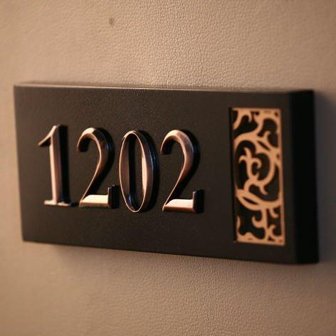ABS Hotel Door Number Plate, House Number SL11620