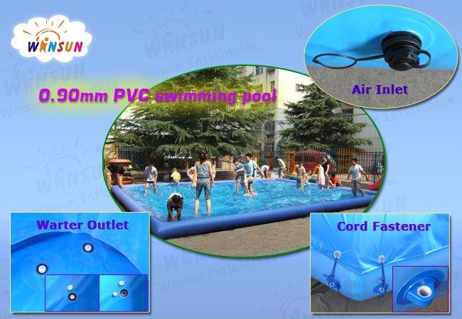 2013 certificato ce in pvc telone gonfiabile con piscina giganti