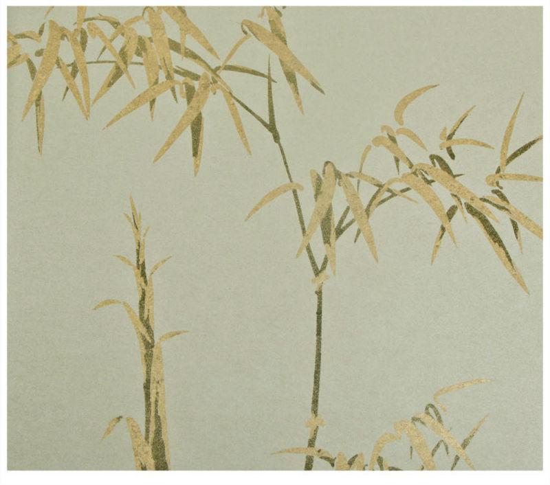 diseo de bamb no tejidas a mano chino pintado dorado papel para pared