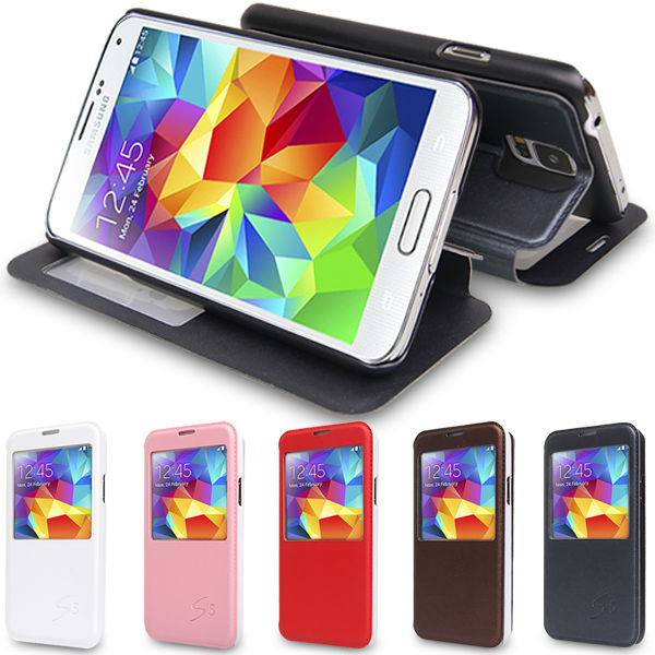 Graphics Phone Leather Flip Case For Samsung Galaxy S5