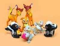 """Bambi Deer Action Figures 3.6"""" Cartoon Figure Free Shipping (7 pcs/set)"""