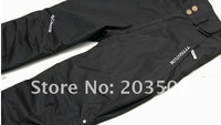 free shipping women's twinset skiing pants removable liner caulking 100% waterproof windproof lady winter two-piece pants black
