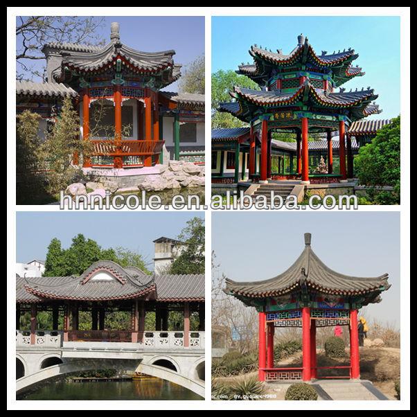 Style asiatique chine tuile de jardin non maill s chinois tuiles en terre cuite tuiles de toit - Stijl asiatique ...