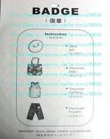 Значок для одежды X-Z-2 1sheets 48pcs Pin 3