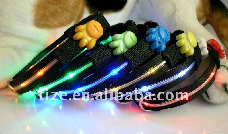 Green light 6 led flashing dog leash led pet leash pet leash with led light TZ-PET1253