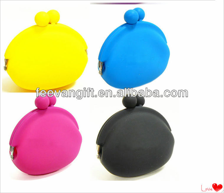 Cheap silicone purse wallet/ silicone coin purse/new product design silicone pouch