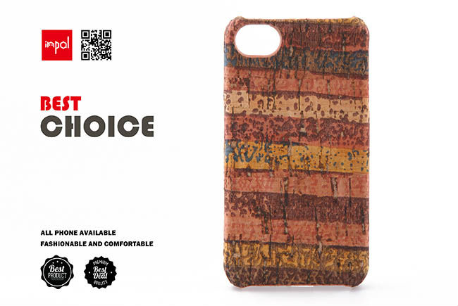 Unique style phone case for apple iphone accessories with hand wrapped cork leather