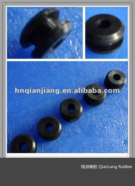 Custom make Round Black Food Grade EMPD/Silicone Rubber Grooved Gasket