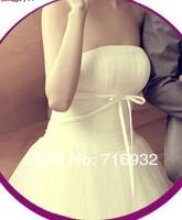 Free shipping wholesale New arrival fashion Korean version lace silk diamond Angel white princess pregnant wedding dresses
