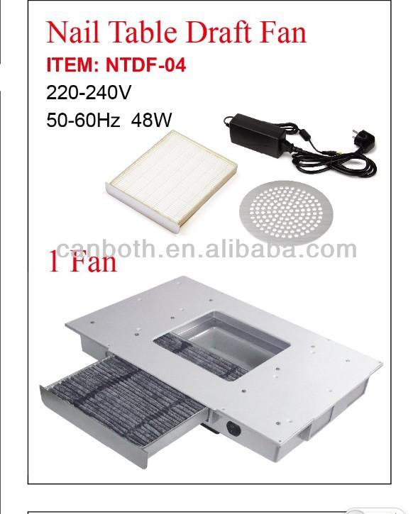 Nail Table Draft Fan/manicure Table Fan/dust Collector Ntdf-04 - Buy ...