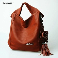 Клатч special offer GENUINE LEATHER TASSEL restore ancient inclined big bag women tassel fine handbag