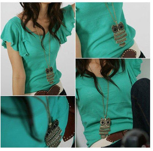 Promotion retro owl long necklace sweater chain AAA!!Freeshippping  fashion Carved Chain Necklace wholesale---cRYSTAL Shop