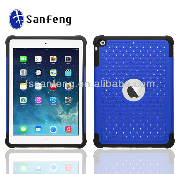 New arrival silicone any color available case for ipad 5 / shockproof case for ipad air smart cover