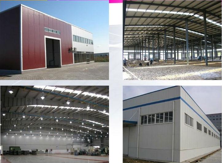 Estructura de acero cobertizo/dibujo almacén de construcción