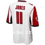 Мужская футболка для американского футбола #11 Jones 10 Jones Jerseys