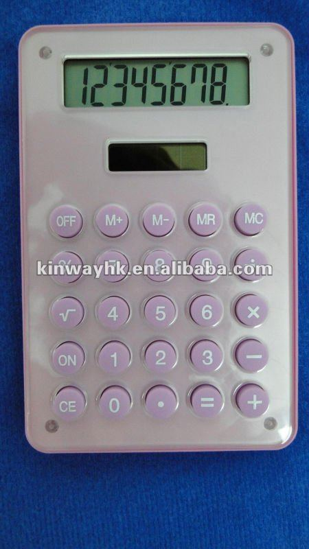 premium electronic 8 digit transparent fancy calculator