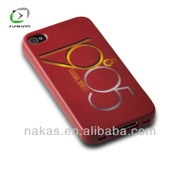 TPU cell phone case cover with water pasting for iphone 4G