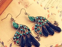 Серьги Vintage JewelryDrilling Peacock Earring EP-0119