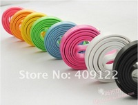 CN 5pcs/lot colorful flat noodle usb sync charger/data cable for iphone 4 4s 3gs for ipad 2 3