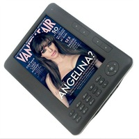 free shipping+Digital Electronic ebook reader with 7inch Screen 4GB memory black+white