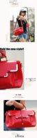 Сумка через плечо drop / 2012 New style tote bag, pu leather women handbags, shoulder messager bag designer / Retail SALE