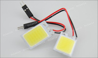 3W COB Chip 18led LED Car Interior Light T10 Festoon Dome BA9S Adapter 12V,Wholesale Car Vehicle LED Panel #v