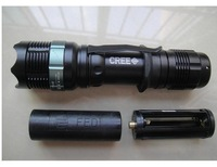 Светодиодный фонарик ZOOMABLE 7W CREE LED Rechargeable 400 Lumen 18650 Zoom Flashlight 3x AAA Torch Lamp Light Battery