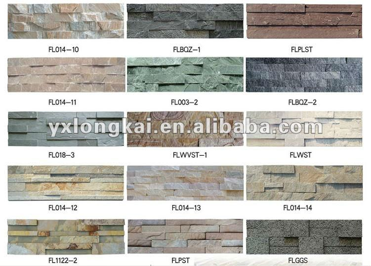 rough natural slate for wall