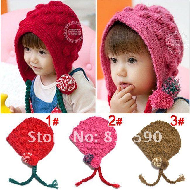 Вязание осенних шапочек для девочек 17