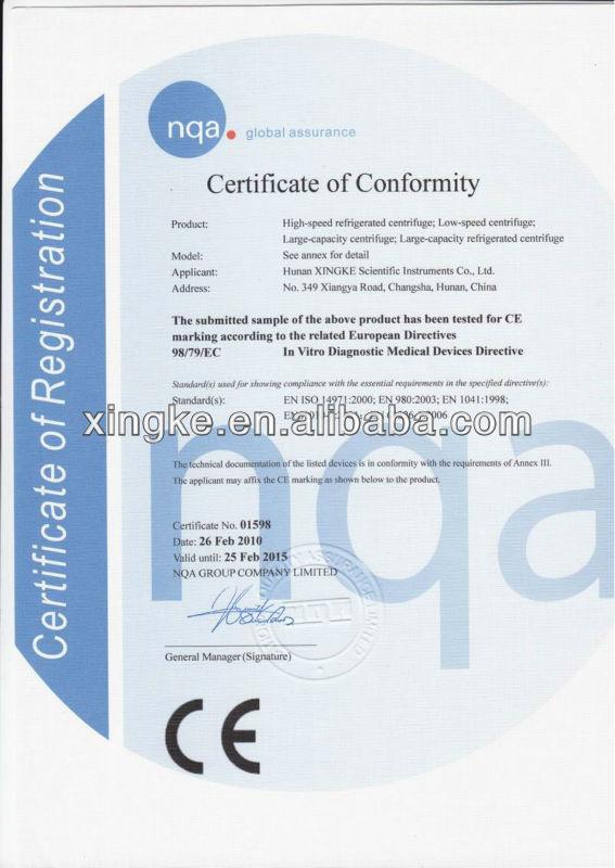 Tdl - cinq table basse vitesse médicale Micro Hematocrit centrifugeuse