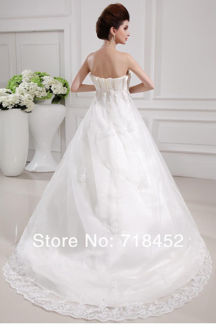 Ball Gown Wedding Dress Material : Arrival wedding dress princess ball gown cinderella stain fabric