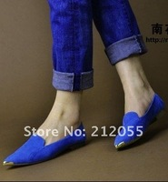 Туфли на высоком каблуке 2012 Korea shining candy color metal pointed toe fashiom women pumps, flats, woman pumps, lady's shoes pumps, 3 color