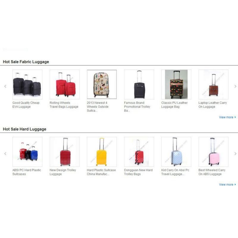 China Travel Luggage Bag Trolley Suitcase Manufacturer