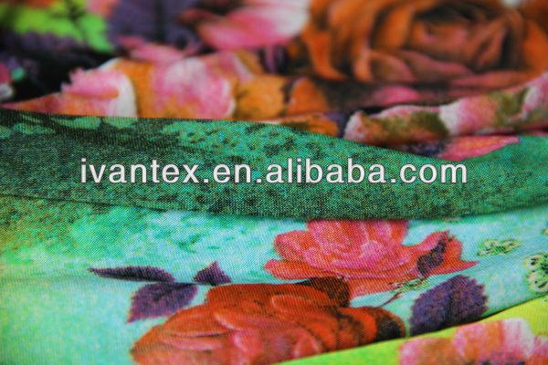 Fashion new design soft knitted weft digital printing polyamide fabric