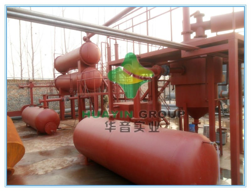 the newest design high profit crude oil from waste tyre machine