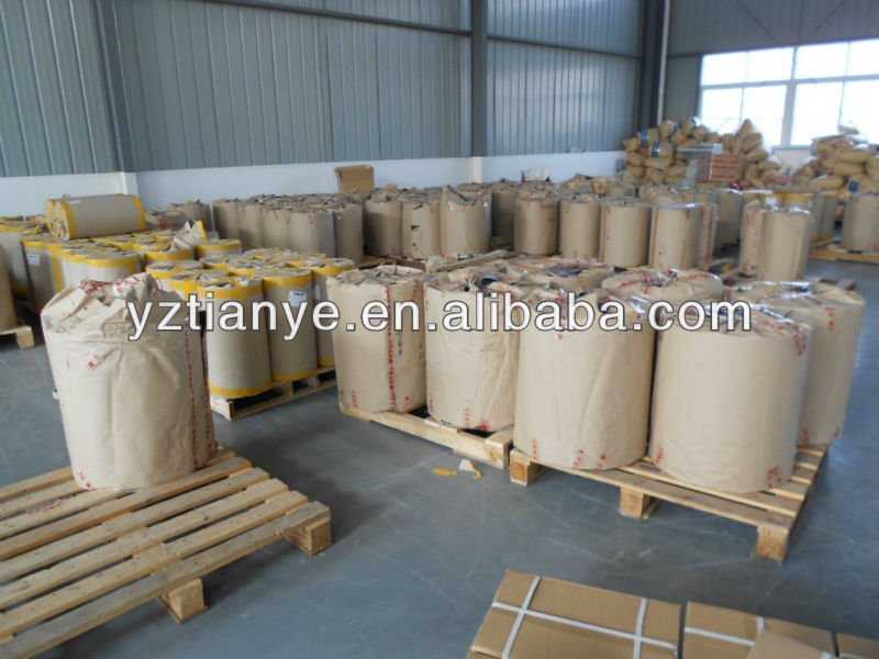 Yellow colour PVC plastic roll film/sheet