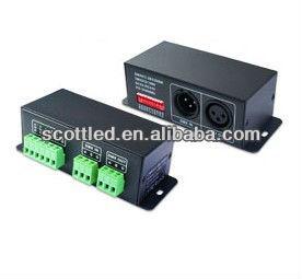 Dc 5-24 v LED rvb dmx à ws2801 décodeur, traduire dmx 512 signal dans le signal de spi