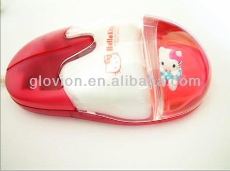 Unique USB water mouse cute 3d floater mouse computer accessorie