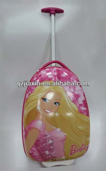 Girl ABS cartoon luggage with Aluminum bar