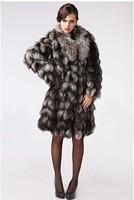Женская одежда из меха Fahion Warm Thickem Women's Fur Natural Real Fox Fur Coat Longer Designer Coat Luxury Ladies